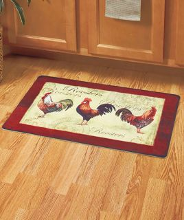 Provence Country Rooster Cream Area Rug Collection