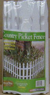 ALL NATURAL CEDAR GARDEN BORDER FENCE WHITE 16 X 8 NEW IN BOX