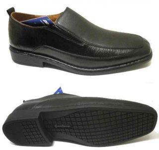 Mens Size 14 w French Shriner Loafer Black Leather NIB