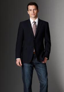 hickey freeman sterling collection navy solid blazer nathan model u