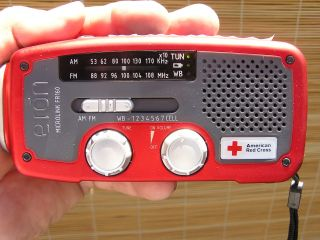 Eton American Red Cross Emergency Radio with Solar and Crank Power