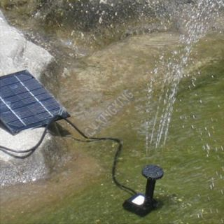 Solar Fountain Pump Water Feature Pond Garden Home Kit