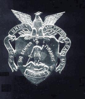 Vintage VIRGINIA FORK UNION MILITARY ACADEMY Hat Badge ORIGINAL