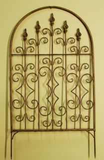 Wrought Iron Garden Trellis Tuscan Arch Yard Decor