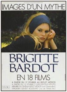 Brigitte Bardot *POSTER* French Film Festival SEXY 60s mod RARE