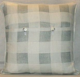 Kate Forman Fabric Check French Grey Cushion Pillow Cover Free World