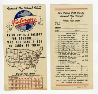 Salt Water Taffy Brochure Order Forms 1930s Atlantic City