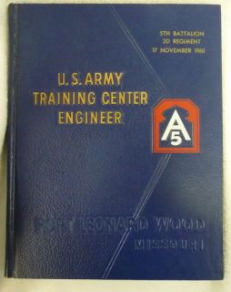 1960 US Army Fort Leonard Wood Training Class Yearbook