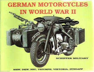 German Motorcycles in the War   BMW   DKW   NSU   Triumph   Viktoria
