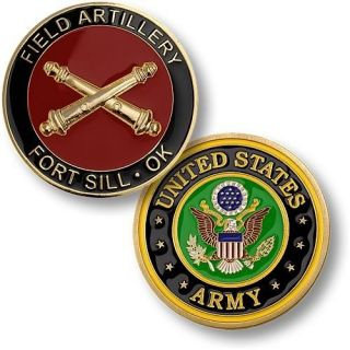 Army Fort Sill Field Artillery Logo Challenge Coin