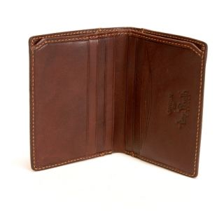 Italian Leather Prima Americano Front Pocket Credit Card Wallet New