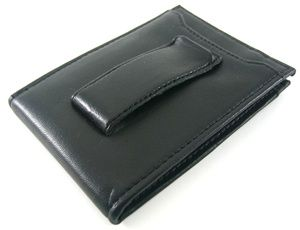 Geoffrey Beene Black Front Pocket Wallet w Money Clip