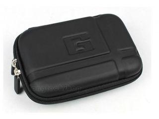 Black Leather Carry Case Bag Fr 5 5 2 5 3 Garmin TomTom GPS