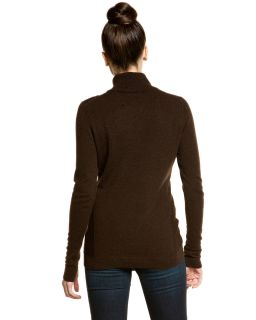 forte cashmere chestnut turtleneck sweater $ 297 00 $ 89
