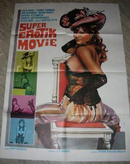 Super Erotik Movie Italian Movie Poster Karin Gambier L Vigs