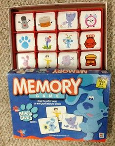 Blue s Clues Memory Game Matching Card Complete W Box Nick Jr HTF