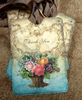 Hang Tags ★ Floral Bouquet Thank You ★ Gift Tags
