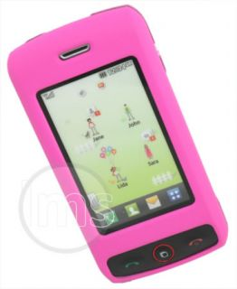 Hot Pink Hybrid Hard Case Cover Skin Shell for LG GW520