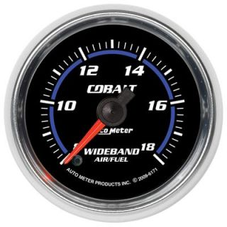 Autometer Cobalt Electrical Air Fuel Ratio Gauge 2 1 16 Dia Black