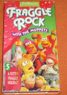 1993 Fraggle Rock with the Muppets A Festive Fraggle Holiday VHS Jim