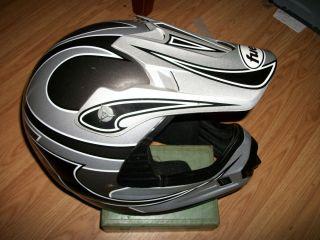 MHR Fuel Off Road Enduro Dirt Bike Motorcycle Helmet Size Small