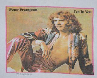Vintage Peter Frampton Im in You Tour T Shirt 1977 S