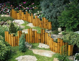 New Genuine Bamboo Garden Border Edging Flower Beds