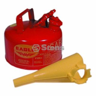 765 180 Metal Safety Gas Can Eagle 1 Gallon Fuel Can with Funnel