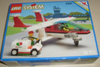 Lego City Town Gas N Go Flyer Airplane MISB Retired Set 6341 Free s H