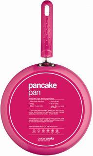 Kitchen Craft Frying Non Stick Pancake Crepe Fry Pan Blue Pink or