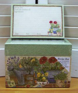 Primitive Recipe Box 50 Recipe Cards Laminated Cardboard 16 Designs
