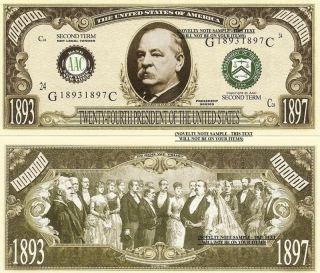 FOUR GROVER CLEVELAND (Second Term) One Million Dollar Bills