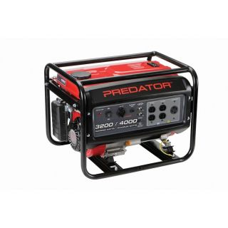 212cc, 4000 Watts Max   3200 Watts Rated Portable Gas Generator @