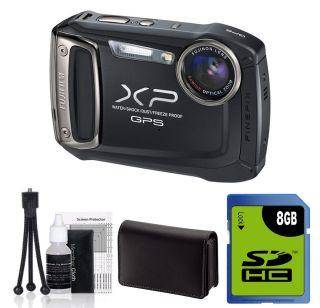Fujifilm Finepix XP150 Waterproof Digital Camera GPS BLACK +8GB Kit