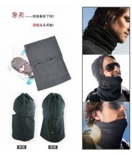 Cap Ski Bicycle Motorcycle Wind Warm Head Cover CS Hat Black