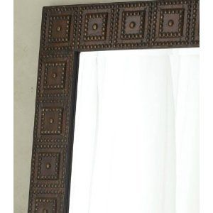 Wall Mirror Oversize Hammered Metal Full Length Leaner Bronze