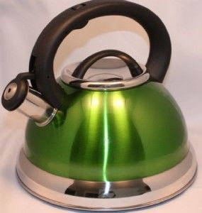 Tea Kettle 2 8 L Heavy Gauge Stainless Steel Whistling 3QTS Elegant