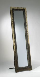 Full Length Dressing Floor Standing Mirror Wood Frame Forest Finish