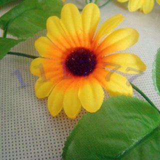 230cm Yellow Silk Sunflower Garlands Artificial Flowers