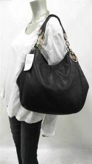 Michael Kors Fulton Tote Large Double Strap Shoulder Bag Black Handbag