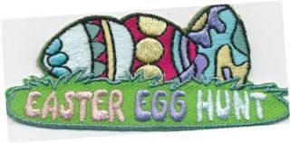 Girl Boy Cub Easter Egg Hunt Lawn Roll Fun Patches Crests Badges Scout