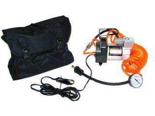 Metal Mini Air Compressor 12V Tire Inflator with Gauge and Hose