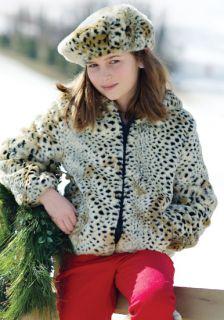 Donna Salyers Fabulous Furs Girls Cheetah Faux Fur Parka