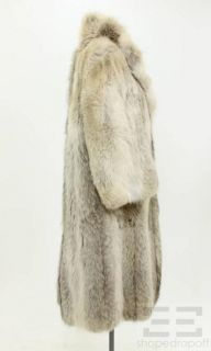 Keim Furs Tan & Brown Coyote Fur Full Length Coat