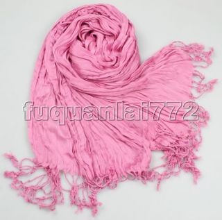 Light Pink Youth Vogue Classic Fancy Design Cotton Silk Shawl Scarf