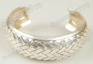 Pair Mens Miao Silver Handmade Carved Bracelet 1712
