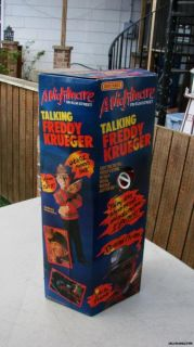 18 Talking Freddy Krueger Nightmare on Elm St DOLL MIB Working