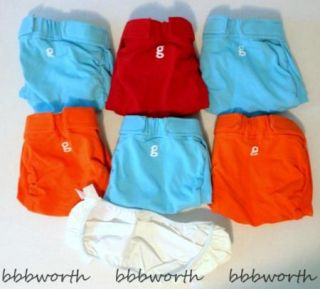 New gDiapers Lot of 6 Cloth Diaper gPants Old Style Sz Medium Med 7