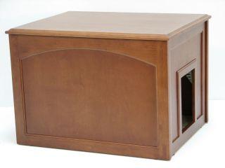 CAT LITTER BOX CABINET NEW LITTER BOX PET FURNITURE IN MAHOGANY