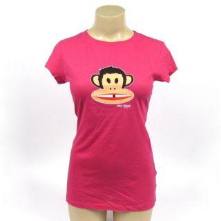 Paul Frank T Shirt Julius Monkey Freckles Missing Tooth Fuchsia Tee